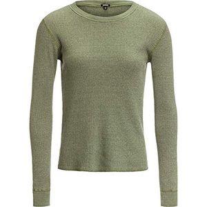 NEW Monrow Green Thermal Long sleeve Shirt L